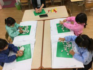 小受(現年中児) 絵画造形クラス始まっています。粘土で立体を作ってみよう!